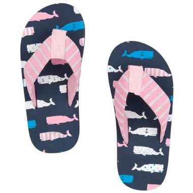 Little Blue House Kids Flip Flops Whales