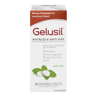 Gelusil Antacid & Anti-Gas Chewable Tablets