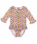Snapper Rock Leopard Love Baby Long Sleeve Surf Suit