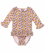 Snapper Rock Leopard Love Baby Long Sleeve Surf Suit