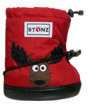 Stonz Red Moose Toddler Booties