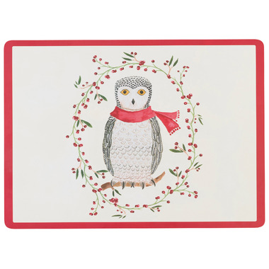 Now Designs Placemat Cork-Backed Snowy Owl