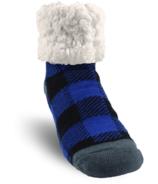 Pudus Classic Slipper Sock LumberJack Blue