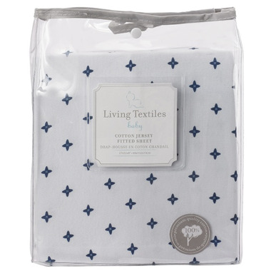 Living Textiles Jersey Fitted Sheet Starry Night