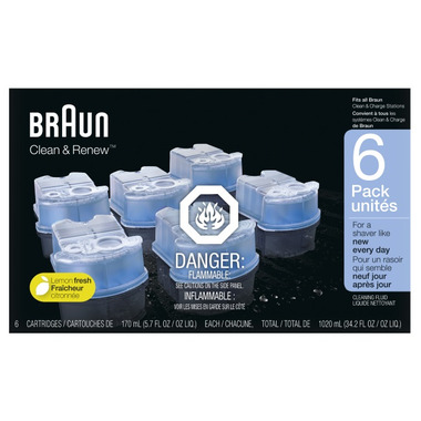 Braun Clean & Charge Refill Cartridges