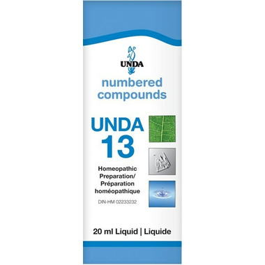 UNDA Numbered Compounds UNDA 13 Homeopathic Preparation