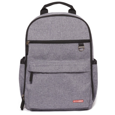 Skip Hop Duo Diaper Backpack Heather Grey