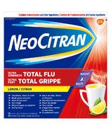 NeoCitran Ultra Strength Total Flu Night Lemon