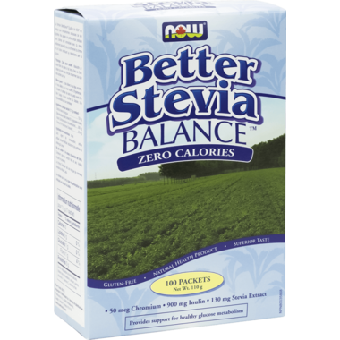 NOW Better Stevia Balance Packets With Inulin & Chromium
