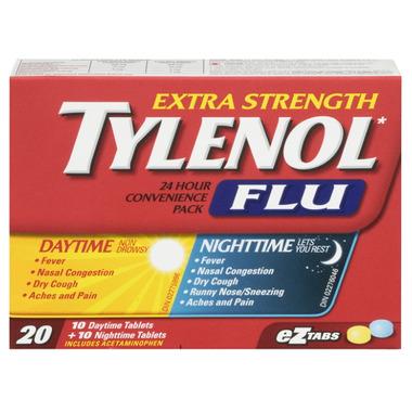 Tylenol Flu Extra Strength Day + Night eZ Tabs