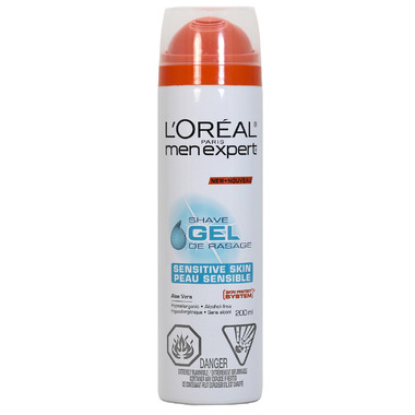 L\'Oreal Men Expert Sensitive Skin Shave Gel with Aloe Vera