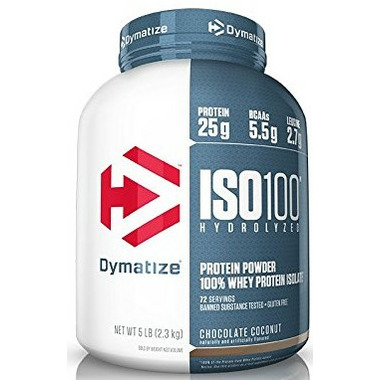 Dymatize Nutrition ISO100 Whey Hydrolysate Isolate Chocolate Coconut 5 lbs