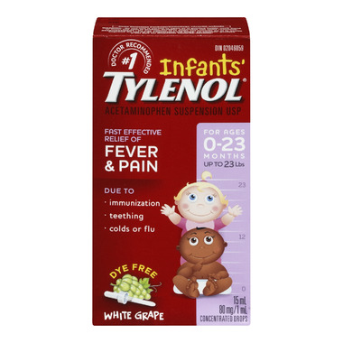 Tylenol Infants\' Fever & Pain Suspension Drops