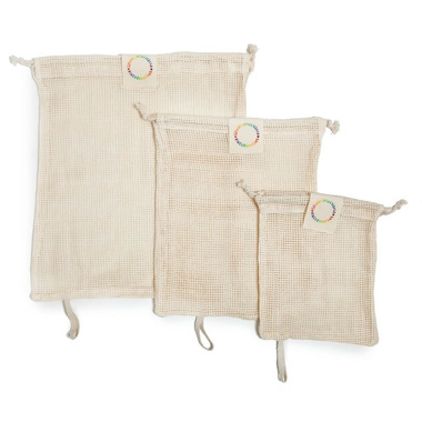 Life Without Waste Reusable Produce Bags Organic Cotton Mesh