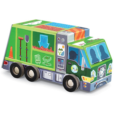 Crocodile Creek Vehicle Puzzle Recycle Truck