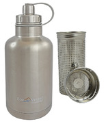 Eco Vessel BOSS Vacuum Insulated Stainless Steel Growler Bottle Silver