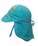 Calikids Long Back Quick-Dry Cap Aqua