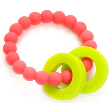 Chewbeads Baby Mulberry Teether Punchy Pink