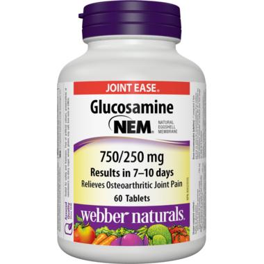 Webber Naturals Glucosamine NEM, 750/250 mg