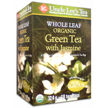 Uncle Lee\'s Whole Leaf Organic Green Tea With Jasmine