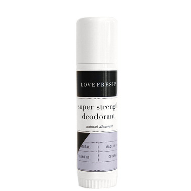 LOVEFRESH Super Strength Natural Cream Deodorant Travel Stick