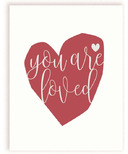 mavisBLUE You Are Loved Print