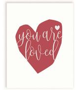 mavisBLUE You Are Loved Print