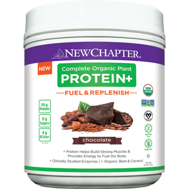 New Chapter Complete Organic Plant Protein+ Fuel & Replenish Chocolate