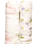 Little Unicorn Bamboo Muslin Swaddle Set Pink Peony