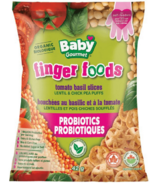 Baby Gourmet Finger Foods Tomato Basil Slices Lentil & Chickpea Puffs