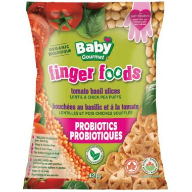 Baby Gourmet Finger Foods Tomato Basil Slices Lentil & Chickpea Puffs