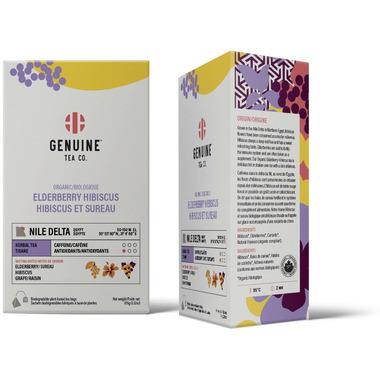 Genuine Tea Organic Elderberry Hibiscus Herbal Tea
