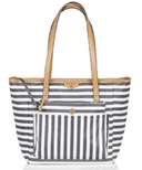TWELVElittle Everyday Tote Plus Grey Stripe