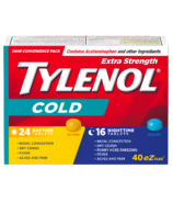 Tylenol Extra Strength Cold Daytime/Nighttime eZ Tabs