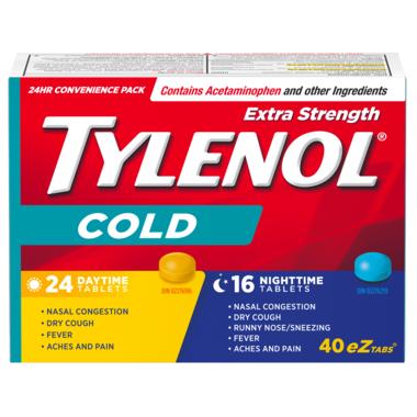 Tylenol Extra Strength Cold Daytime/Nighttime eZ Tabs