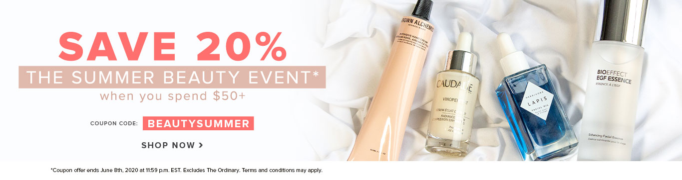 Spend $50 on Beauty & Skincare and Save 20%*