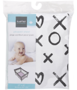 Kushies Playpen Sheet XO Black & White