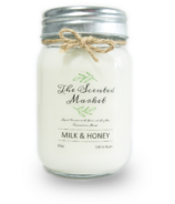 The Scented Market Soy Wax Candle Milk & Honey