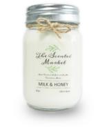 Bougie de cire de soja lait et miel de The Scented Market