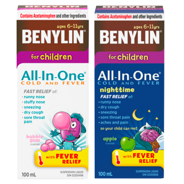 Benylin Children\'s Cold & Fever Syrup Day + Night Bundle