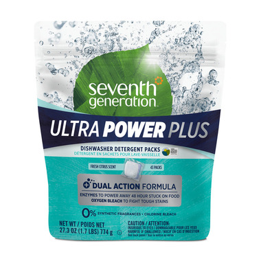 Seventh Generation Ultra Power Plus Automatic Dishwasher Packs