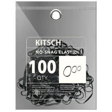 Kitsch No Snag Elastics Black