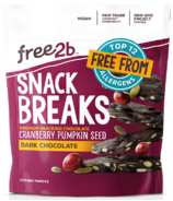 Free2b Snack Breaks Dark Chocolate Pumpkin Seeds & Dried Cranberries Crunch