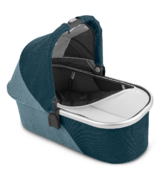 UPPAbaby V2 Bassinet Finn Deep Sea Silver Chestnut Leather