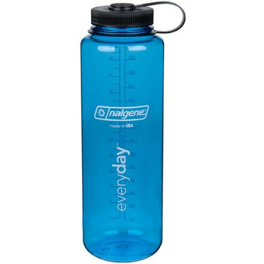 Nalgene 48 Ounce Silo Wide Mouth Bottle Blue with Black Cap