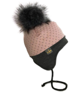 Lox Lion Quilted Winter Hat Pink