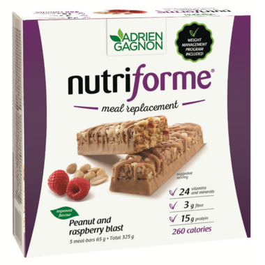 Adrien Gagnon Nutriforme Meal Replacement Bars Peanut & Raspberry Blast