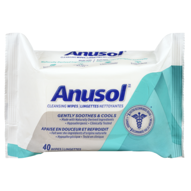 Anusol Cleansing & Soothing Flushable Wipes with Witch Hazel & Aloe