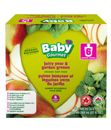 Baby Gourmet Juicy Pear & Garden Greens Purees 6 Pack