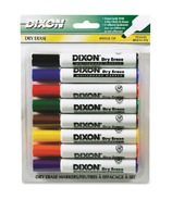 Dixon Wedge Tip Dry Erase Markers